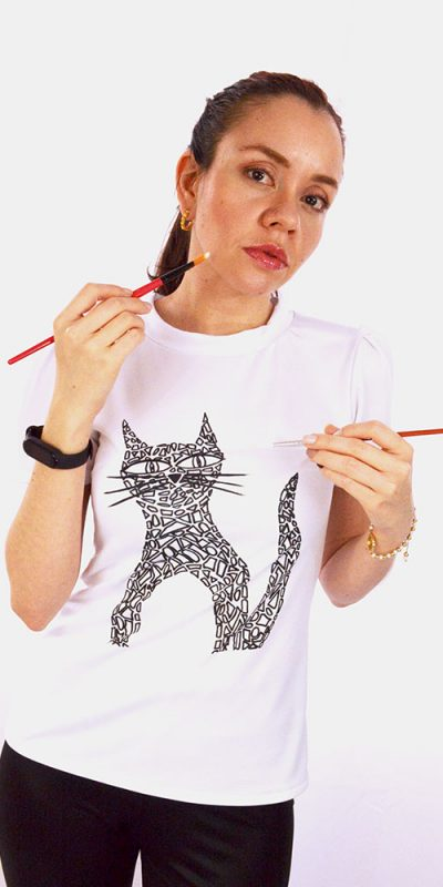 Camiseta estampación arte abstracto