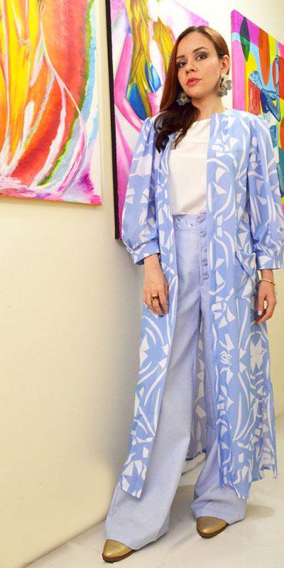 Kiblus estampado animalprint abstracto Azul