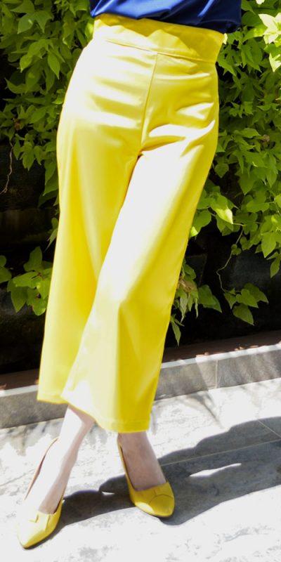 Pantalón tiro alto Amarillo